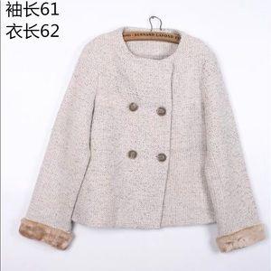 Tweed Vintage style knit jacket